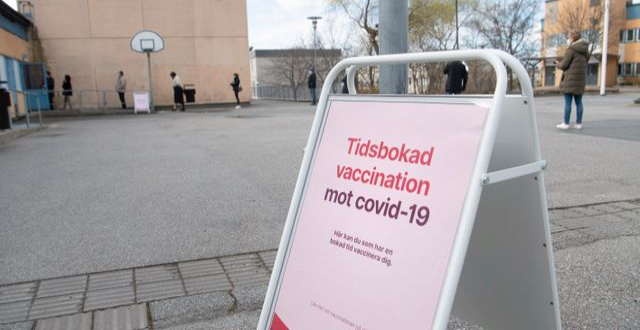 Vaccininformation i Rinkeby. Fredrik Sandberg/TT / TT NYHETSBYRÅN