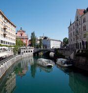 Sloveniens huvudstad Ljubljana. Åserud, Lise / TT NYHETSBYRÅN
