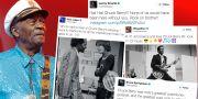 Chuck Berry hyllas i inlägg på Twitter. TT/Twitter