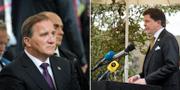 Statsminister Stefan Löfven och talman Andreas Norlén.  TT