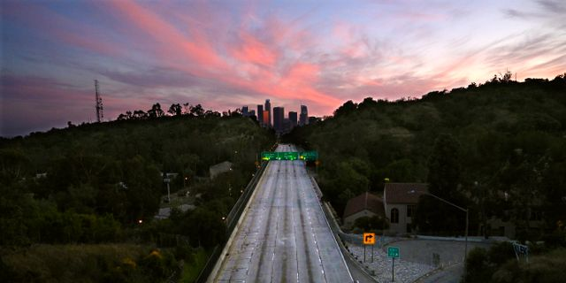 Tom gata utanför Los Angeles. Mark J. Terrill / TT NYHETSBYRÅN