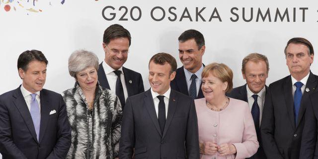 Några av statscheferna under G20-mötet. Eugene Hoshiko / TT NYHETSBYRÅN/ NTB Scanpix