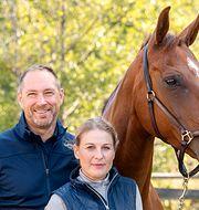 Robert Kos, Helena Strömbäck och hästen Dante Marie.
