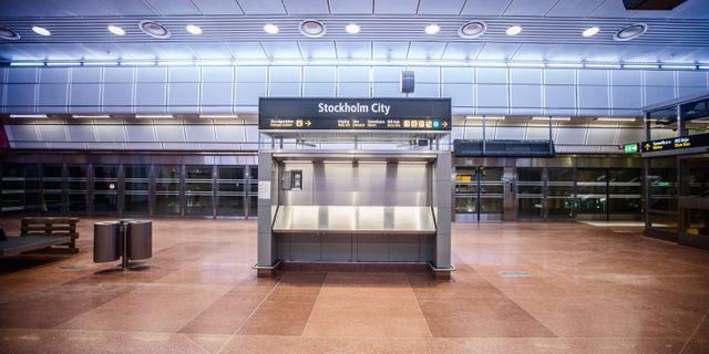 Citybanans pendelstågsstation Stockholms City Adam Wrafter/SvD/TT / TT NYHETSBYRÅN