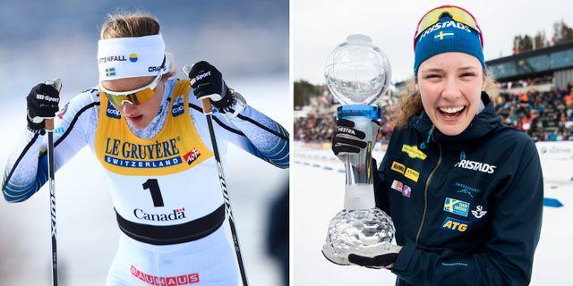 Stina Nilsson och Hanna Öberg. Bildbyrån
