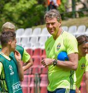 Håkan Ericson under U21-landslagets träning inför EM. Jonas Ekströmer/TT / TT NYHETSBYRÅN