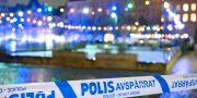 Avspärrning vid Drottningtorget i Malmö i helgen. Johan Nilsson/TT / TT NYHETSBYRÅN