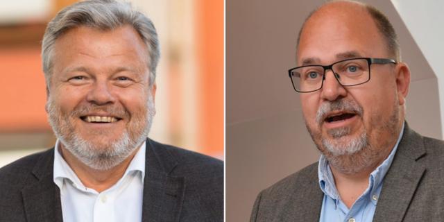 Thomas Erséus och Karl-Petter Thorwaldsson. Almega, TT