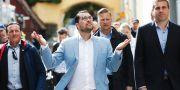 Sverigedemokraternas partiledare Jimmie Åkesson i Almedalen 2019.  Adam Ihse /TT / TT NYHETSBYRÅN