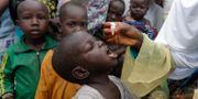 Ett barn i Nigeria får vaccin mot polio. Sunday Alamba / TT NYHETSBYRÅN