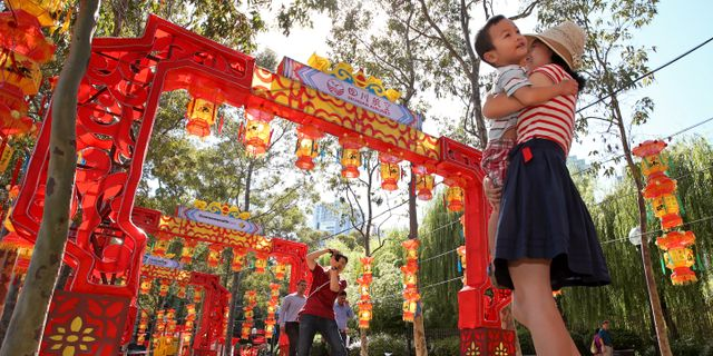 Kinesiska turister i Sydney. Arkivbild. Rick Rycroft / TT NYHETSBYRÅN