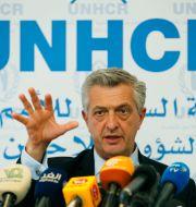 Chefen för FN:s flyktingorgan UNHCR, Filippo Grandi.  Hussein Malla / TT NYHETSBYRÅN/ NTB Scanpix