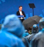 Ulf Kristersson under sitt tal. Henrik Montgomery/TT / TT NYHETSBYRÅN