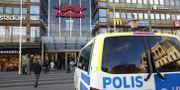 Arkivbild på en polisbil vid Nordstan i centrala Göteborg. Thomas Johansson/TT / TT NYHETSBYRÅN