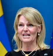 Utrikeshandelsminister Anna Hallberg.  Jonas Ekströmer/TT / TT NYHETSBYRÅN
