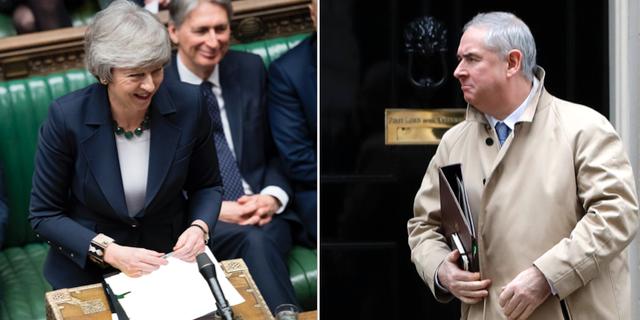 Geoffrey Cox får följa med Theresa May till Bryssel för att lösa upp knutar. TT