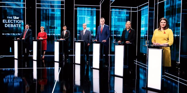 Debatt inför valet i Manchester i december. Matt Frost / TT NYHETSBYRÅN