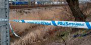 Polisavspärrning sedan en man hittades död den 12 februari. Johan Nilsson/TT / TT NYHETSBYRÅN