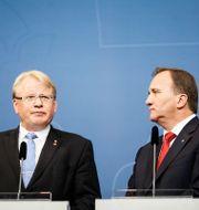 Försvarsminister Peter Hultqvist (S) och statsminister Stefan Löfven. Arkivfoto. Emma-Sofia Olsson/SvD/TT / TT NYHETSBYRÅN