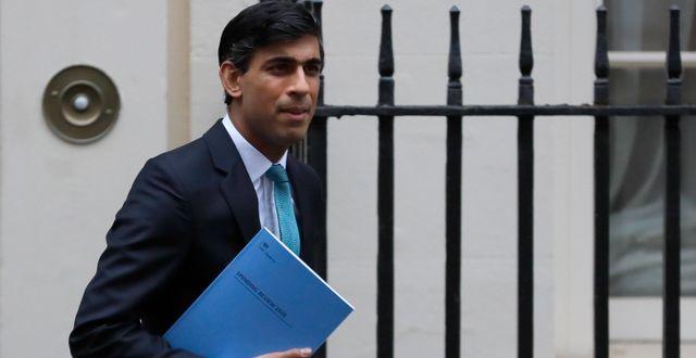 Storbritanniens finansminister Rishi Sunak.  Kirsty Wigglesworth / TT NYHETSBYRÅN