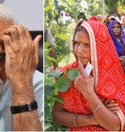 Narendra Modi/Kvinnor som röstar. TT