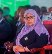 Tanzanias President Samia Suluhu Hassan. TT NYHETSBYRÅN