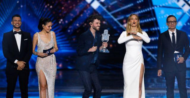 Duncan Laurence från Nederländerna vann Eurovision Song Contest 2019  Sebastian Scheiner / TT NYHETSBYRÅN