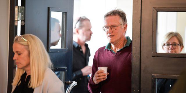 Anders Tegnell på pressträff.  Pontus Lundahl/TT / TT NYHETSBYRÅN