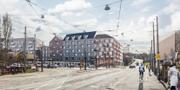 Illustration över det nya området Fixfabriken. Göteborgs stad