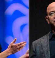 Zuckerberg och Bezos tillhörde undantagen under 2019. TT