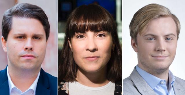 Nicklas Andersson, Emma Hedlin och Albin Kjellberg. Pressbilder
