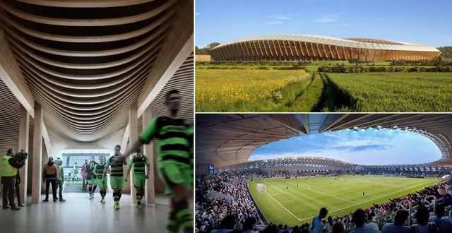 Eco Stadium ska bli världens grönaste stadium. Zaha Hadid Architects