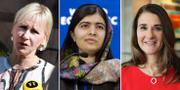 Arkivbilder: Margot Wallström, Malala Yousafzai och Melinda Gates. TT