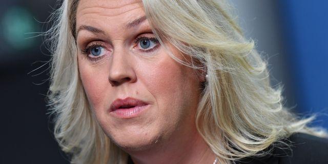 Socialminister Lena Hallengren. Jonas Ekströmer/TT / TT NYHETSBYRÅN
