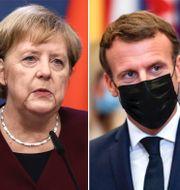 Angela Merkel/Emmanuel Macron/Ursula von der Leyen. TT