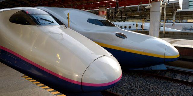Japanska höghastighetståg. JANERIK HENRIKSSON / TT / TT NYHETSBYRÅN