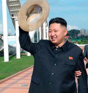 Nordkoreas ledare Kim Jong Un.  Uncredited / TT NYHETSBYRÅN