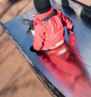 Barn på lekplats.  Henrik Holmberg / TT