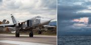 Ett ryskt plan av typen Su-24 som flög nära militärövningen i Östersjön. TT