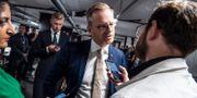 Inrikesminister Mikael Damberg intervjuas.  Johan Nilsson/TT / TT NYHETSBYRÅN