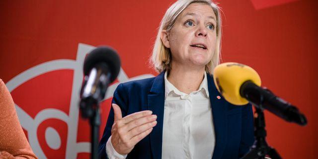 Finansminister Magdalena Andersson (S).  Marc Femenia/TT / TT NYHETSBYRÅN