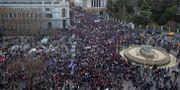 De omfattande demostationerna hölls bland annat i Madrid. Paul White / TT NYHETSBYRÅN