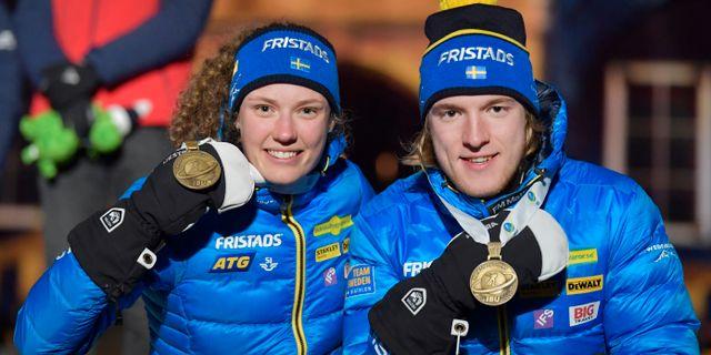 Hanna Öberg och Sebastian Samuelsson har båda tagits ut till lördagens stafetter Jessica Gow/TT / TT NYHETSBYRÅN
