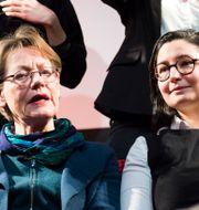 Gudrun Schyman och Gita Nabavi, partiledare Feministiskt initiativ  Emil Langvad/TT / TT NYHETSBYRÅN