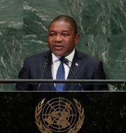 Moçambiques president Filipe Nyusi. Frank Franklin II / TT NYHETSBYRÅN