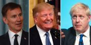 Jeremy Hunt, Donald Trump och Boris Johnson. TT/AP