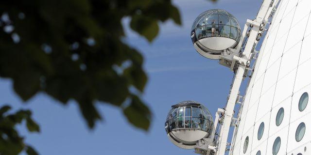 Skyview på Globens tak lockar drygt 100 000 turister om året. Sören Andersson/Globen