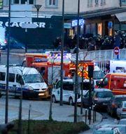 Polisen och räddningstjänsten utanför kosherbutiken 2015. Francois Mori / TT / NTB Scanpix