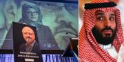 Jamal Khashoggi och Mohammed bin Salman. TT
