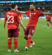 herdan Shaqiri gjorde Schweiz tredje mål.  OZAN KOSE / BILDBYRÅN